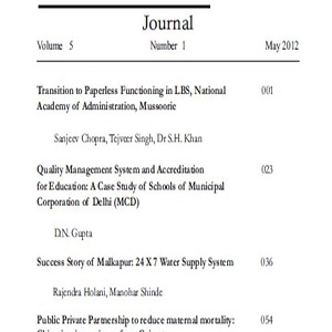 Service Quality Journal May 2012 (Vol. 5 No. 1)