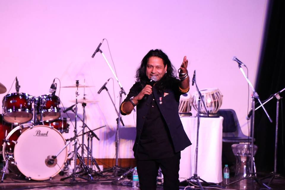 "Performance of Singer Kailash Kher and the band ""Surfira"""