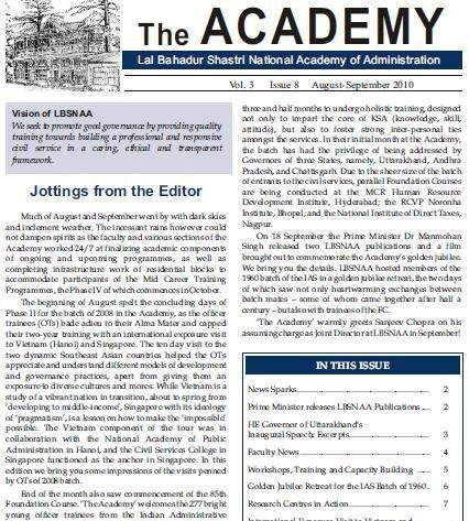 The Academy (Aug-Sep2010) Vol.3 Issue-8